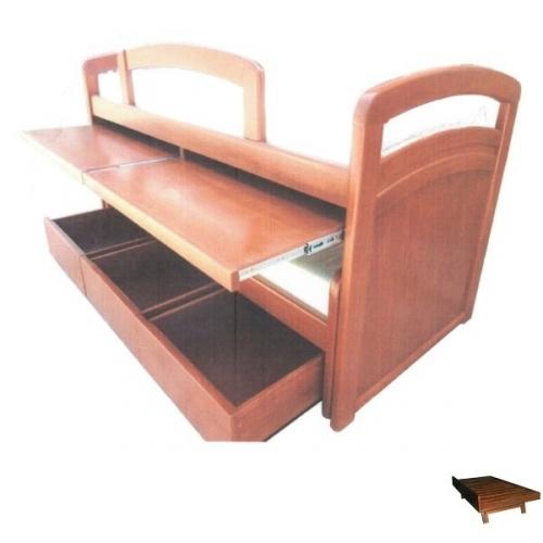 Cama nido con escritorio c357 concepto joven la casa for Cama nido con cajones y escritorio